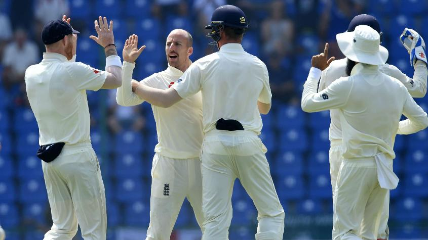 Jack Leach set things up for England with crucial top-order wickets on the fourth day