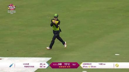 IND v AUS: Harmanpreet Kaur falls after breezy 43 off 27 balls