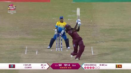 WI v SL: Stafanie Taylor falls after a quickfire 41