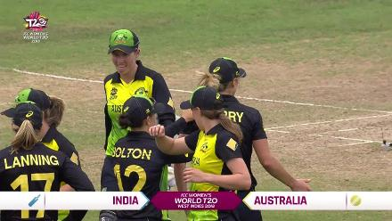 IND v AUS: Deepti Sharma is Ellyse Perry's third wicket of the day