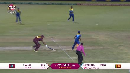 Natasha Mclean dismissed after direct hit from Athapaththu