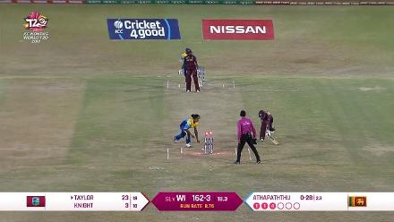 WI v SL: After McClean, Kycia Knight falls to a run-out from Athapaththu