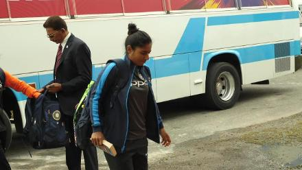 IND v AUS: Teams arrive for their final group stage game