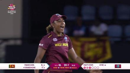 WI v SL: Sri Lanka fall of wickets