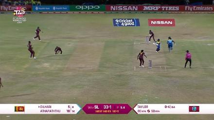WI v SL: Kavisha Dilhari falls short of her crease and is run out