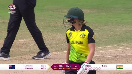 IND v AUS: Meg Lanning is caught off Radha Yadav