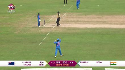 IND v AUS: Poonam Yadav's bowling against Australia