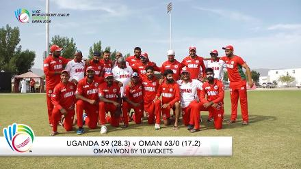 WCL 3 – Oman complete clean sweep with comprehensive 10-wicket victory over Uganda