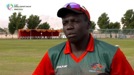 WCL 3 – Kenya captain Shem NGoche speaks before match against Denmark