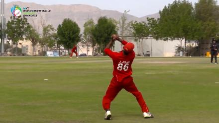 WCL 3 – Denmark's Jojo takes a clean catch to end the Kenya innings 216