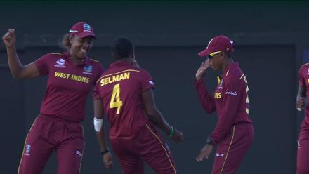 WI v ENG: Windies claim a wicket and dance!