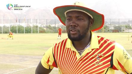 WCL 3 – Uganda captain Roger Mukasa speaks before match against Oman