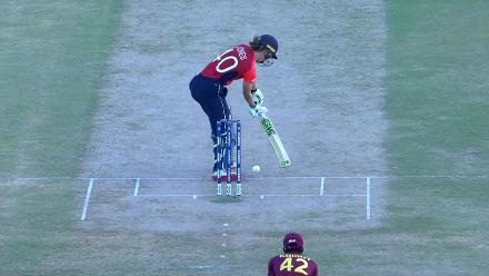 WI v ENG: How close was that? Amy Jones survives