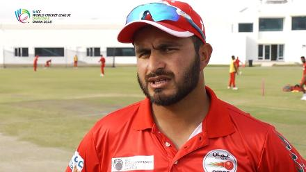 WCL 3 – Oman captain Zeeshan Maqsood speaks before match against Uganda