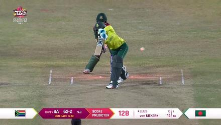 SA v BAN: South Africa fall of wickets