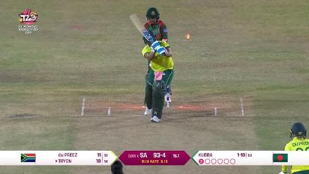 SA v BAN: Chloe Tryon's woodwork is disturbed as South Africa lose half their side