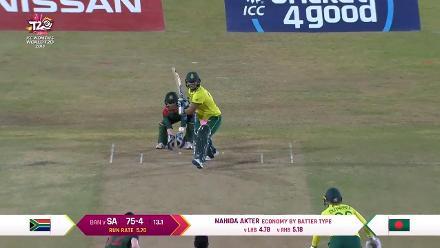 SA v BAN: South Africa innings highlights