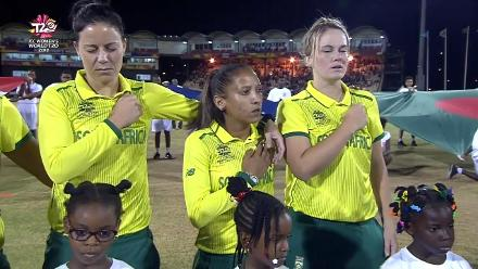 SA v BAN: South African National Anthem plays before the match