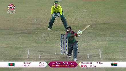 SA v BAN: Pinky is dismissed after a 36-ball 19