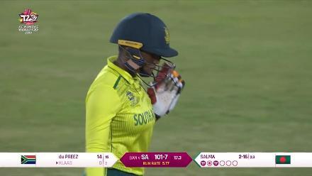 SA v BAN: Masabata Klaas is the seventh Proteas wicket to fall