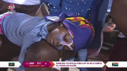 SA v BAN: The excitement is too much for this young fan!