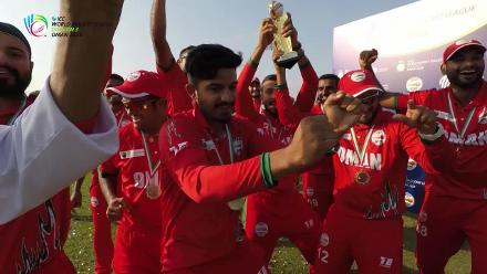 WCL Div 3: Oman celebrate clean sweep with the trophy