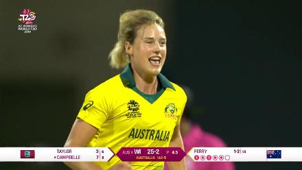 WI v AUS: Elysse Perry dismisses Shemaine Campbelle