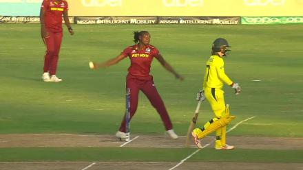 WI v AUS: Britney Cooper takes a blinder to send back Elyse Villani