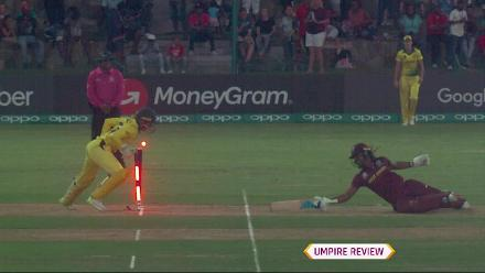 WI v AUS: Quick work from Alyssa Healy to run out Hayley Matthews
