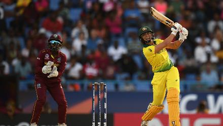 Ashleigh Gardner of Australia bats during the ICC Women's World T20 2018 Semi-Final match between Windies and Australia at Sir Viv Richards Cricket Ground on November 22, 2018 in Antigua, Antigua and Barbuda