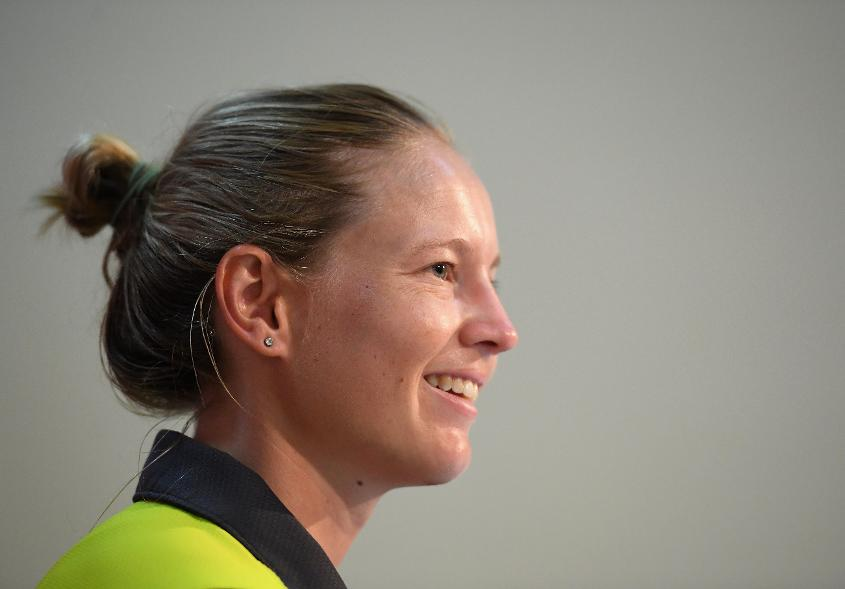 Meg Lanning, Captain of Australia during the ICC Women's World T20 Final 2018 - Previews at the Sir Vivian Richards Stadium on November 23, 2018 in Antigua, Antigua and Barbuda.