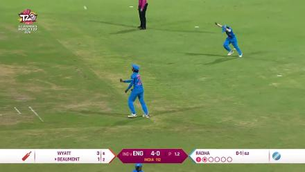 ENG v IND: Tammy Beaumont falls for one