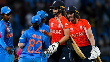 England locked horns with India in the second semi-final. They outplayed the Asian team in all three departments and galloped into their third WT20 final with a eight-wicket victory