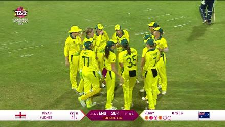 AUS v ENG: Georgia Wareham direct hit sends back Amy Jones