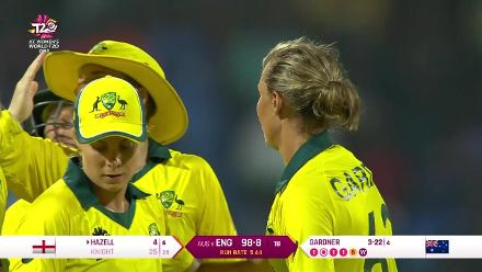 AUS v ENG: Heather Knight becomes Ashleigh Gardner's third victim