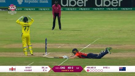AUS v ENG: Alyssa Healy fumbles run-out opportunity