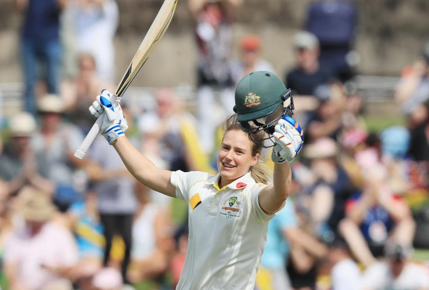Ellyse Perry made a double-century in the last Women's Ashes Test, which was drawn