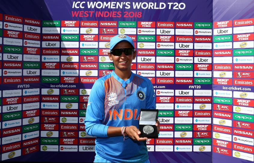 Kaur was Player of the Match in the opening match of the tournament against New Zealand