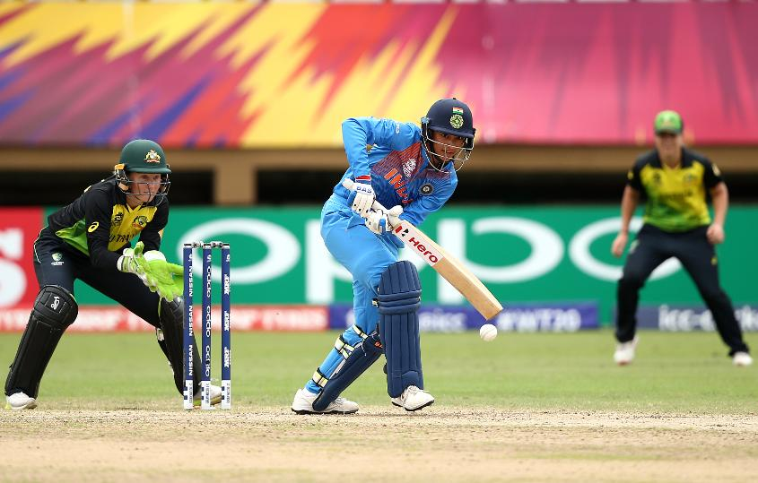 Mandhana scored 83 against Australia to help India top Group B