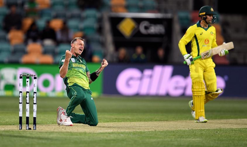 Steyn claimed seven scalps in three ODIs against Australia