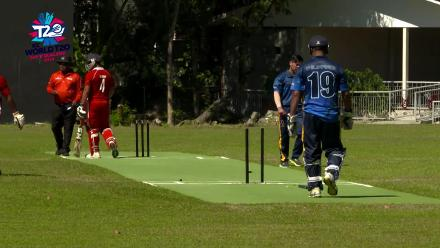 ICC Men's T20 World Cup EAP B Qualifier: Middle stump goes flying!