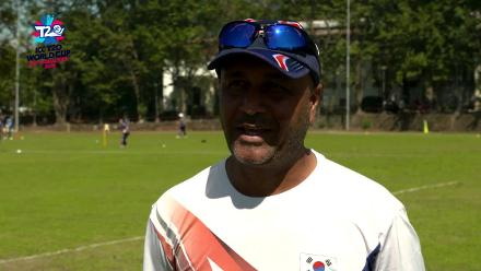 ICC Men's T20 World Cup EAP B Qualifier: South Korea coach Nasir Khan speaks before the game against Indonesia