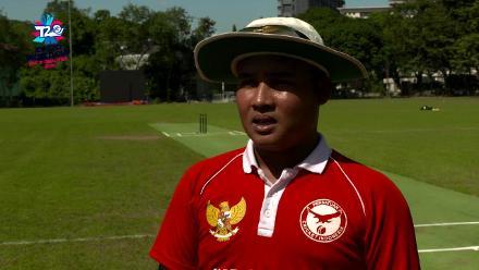ICC Men's T20 World Cup EAP B Qualifier: Indonesia captain Muhaddis Muhaddis speaks before the game against South Korea