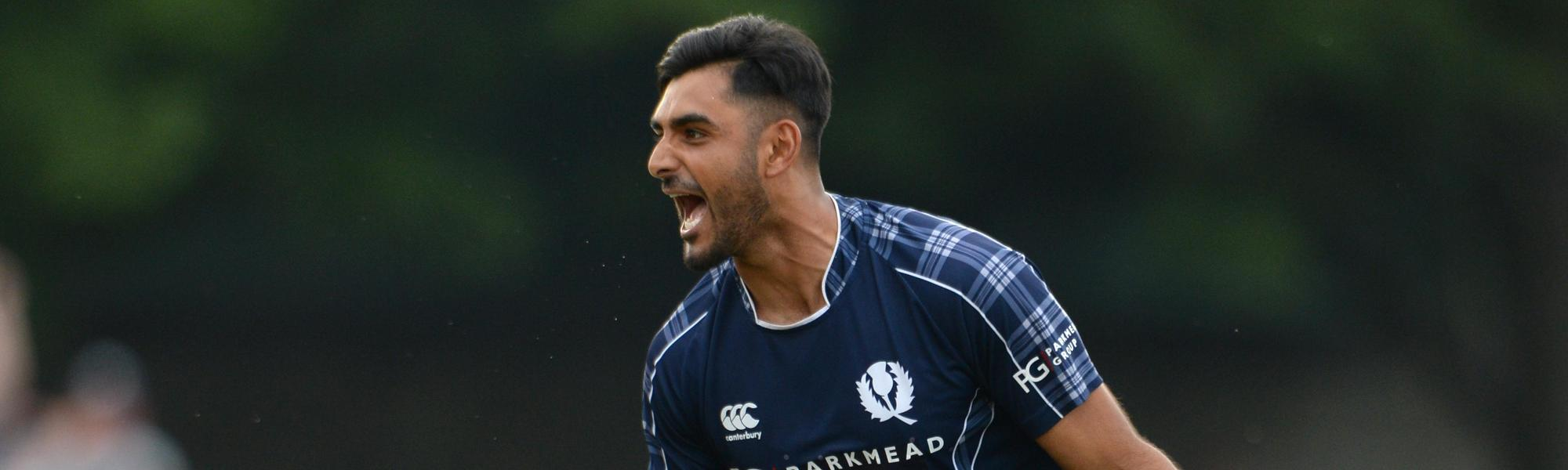 Safyaan Sharif continued his fine recent form to halt Ireland's victory march
