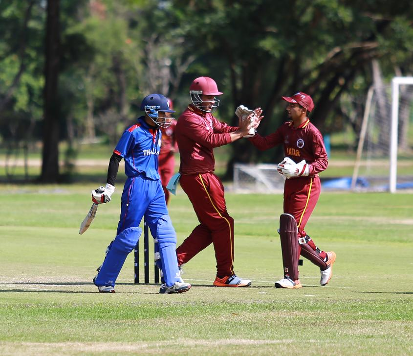 Qatar kicked off their tournament in impressive style bowling Thailand out for 92