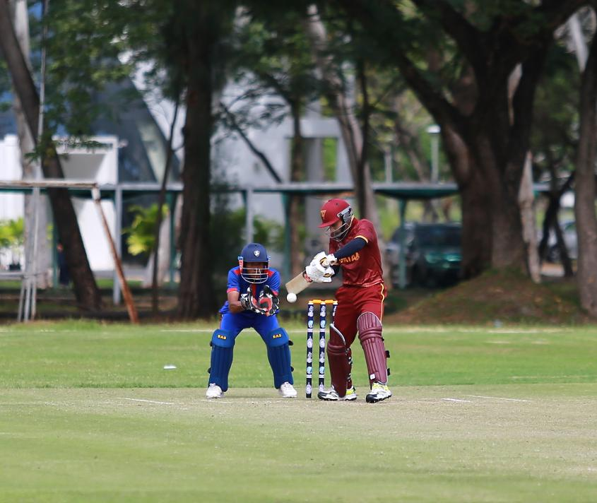 Qatar chased their target down with 12.2 overs to spare