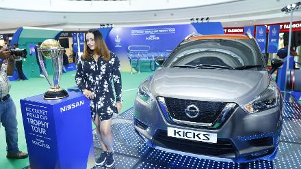 Superstar host Mayanti Langer at the ICC Cricket World Cup 2019 Trophy Tour, driven by Nissan Kicks