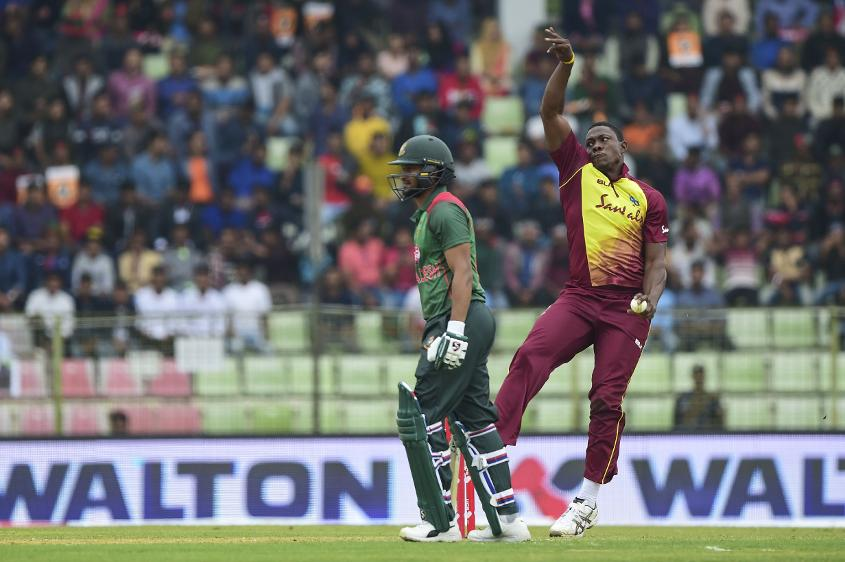 Sheldon Cottrell claimed four wickets