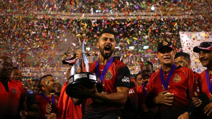 USA's Ali Khan won the CPL with Trinbago Knight Riders