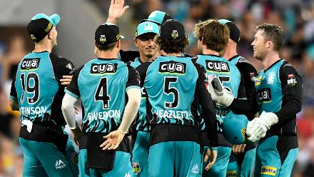Heat picked up five wickets, but the Strikers chased the target with five balls to spare